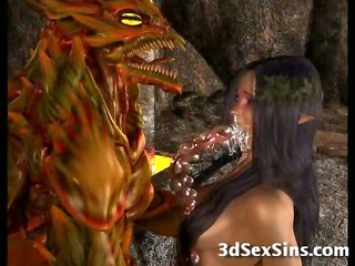 3D Creatures From Hell Fuck Girls!