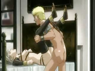Hentai cartoons show busty woman getting fucked in pussy
