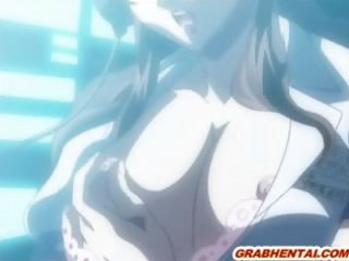 Bondage hentai with a muzzled hard assfucked