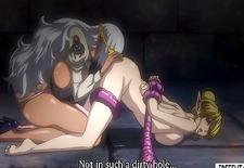 Hentai elf shemale gets head and fucks