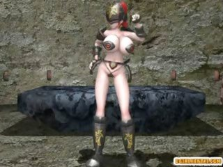 Shemale 3d hentai with four boobs hot poked a bondage anime