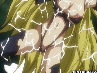 Caught hentai girl gets deep fucked long tentacle cock