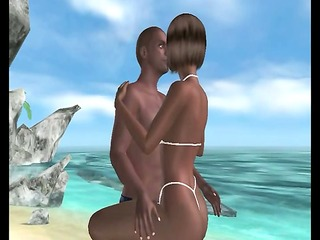 Sometimes Sex on the Beach is more than just the name of a drink, as you can see from this PinkVisualGames.com user-created scene.