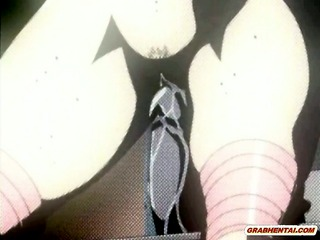 Chained hentai sextoy fucked