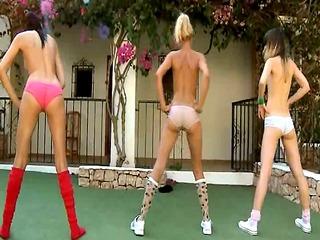 Morning exercises of sweet lesbians