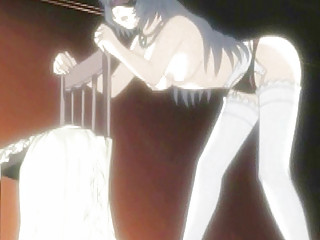 Bondage hentai with blindfold gets her wet pussy