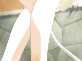 Anime Girl taking a shower