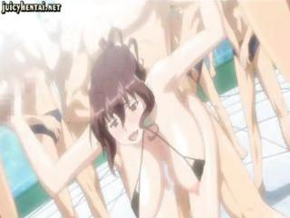 Hentai slut gets double penetrated